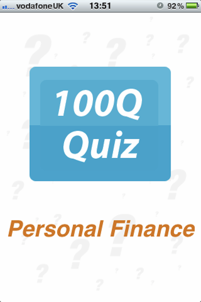 Screenshot Personal Finance – 100Q Quiz